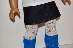 Tutorial: Make lace tights for an 18″ doll out of a crocheted sock