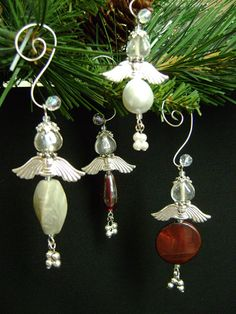 Looking for a holiday craft project?  These angelic tree ornaments assemble in minutes and look beautiful dangling from tree branches.  Make some every year and create family heirlooms that can be enjoyed for generations to come.  These treasures are inexpensive so create a whole collection for...