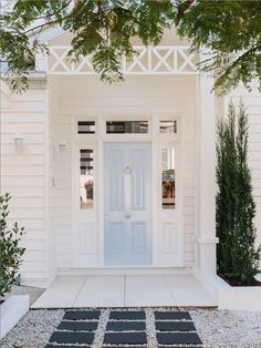 Help me pick the front door color for the Portland fixer, will you? Modern Country, House Exterior, Hamptons House, Exterior Design, Front Door, Light Blue Houses, House Designs Exterior, Modern Country Style, Country House Decor