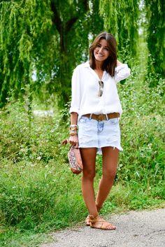 Lovely Pepa - Denim Skirt and White Shirt