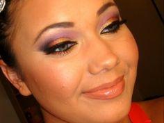 Arabic Inspired Makeup Tutorial (Gold Pink & Purple Smokey Eye)