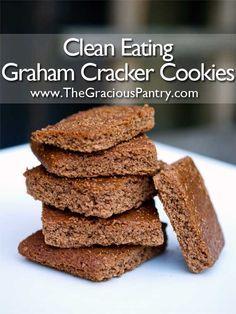 Clean Eating #GlutenFree Graham Cracker Cookies