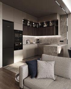 Kitchen Room Design, Room Interior Design, Modern Kitchen Design, Apartment Interior, Home Decor Kitchen, Interior Ideas, Home Decor Boxes, Modern Kitchen Interiors, Kitchen Models