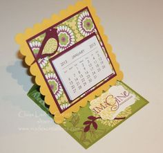 Easel Card Calendars: Class Ladies Share Time - Sue Madex: Stampin ...