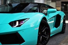 Tiffany blue sports car... Looovvveeee it. This is what I'll get when I become a director at Origami Owl... Dream Big!!