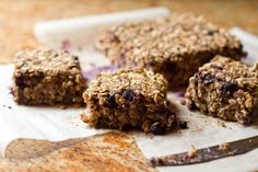 Oatmeal squares recipe for a healthy breakfast or snack clean eating blog