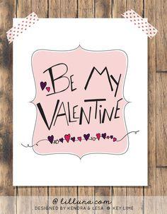 Be My Valentine Free Print on { lilluna.com } #valentines #printable