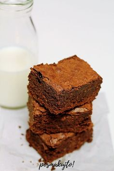 posmakujto!: Brownie – najlepszy przepis! Recipies, Muffin, Food And Drink, Meals, Cake, Sweet, Gastronomia, Kuchen, Recipes