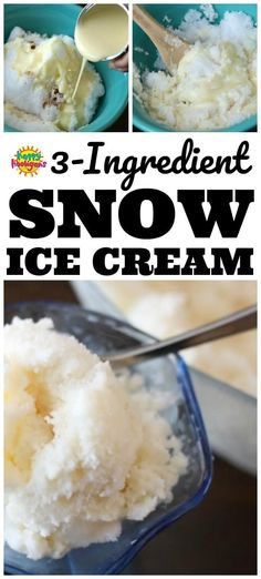 Delicious Snow Ice Cream Easy Snow Ice Cream Recipe: Making Snow Ice Cream, also known as Snow Cream is a classic childhood activity that every kid should try. It's easy to make with 3 ingredients: fresh snow, vanilla and condensed milk. Easy Snow Ice Cream Recipe, Snow Recipe, Snow Icecream Recipe, Ice Cream Recipes, Snow Cream Recipe Condensed Milk, Homemade Strawberry Ice Cream, Easy Homemade Ice Cream, Alcoholic Ice Cream, Snowcream Recipe