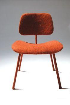 Felt Eames DCM chair