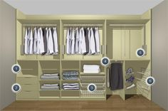 Sliding wardrobe for disabled people. needs more room for pants and dresses.