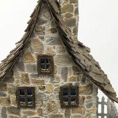 Close-up of stone texture on Irish cottage