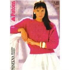 c90f0bb953ff0a Knitting Pattern - Patons 3252 - Lady s Chunky Knit Dolman Sleeve Sweater  32-40