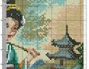 Photo Photo Wall, Cross Stitch, Diagram, Map, Throw Pillows, Geishas, Photograph, Punto De Cruz, Seed Stitch