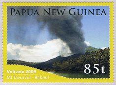 Papua New Guinea 2009, eruption of Tavurvur.