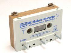 Schlüsselbrett aus Kassette // audio cassette keyboard via DaWanda.com