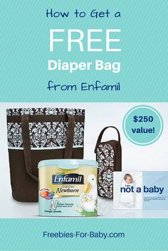FREE Diaper Bag from Enfamil filled with free formula, bottle cooler, samples, coupons, more. $250 value! Go Here => http://freebies-for-baby.com/656/free-stuff-from-enfamil-250-value/ #FreeDiaperBag #enfamil
