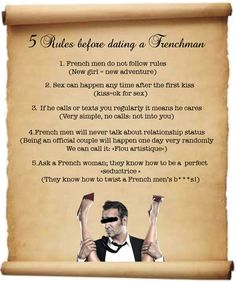 French dating rules