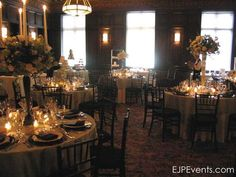 Governor Hotel Library Room | EJP Events coordination, flowers by @Francoise Weeks
