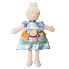 Dolls And Bears: North American Bear Co Dolly Pockets Cinderella And 3 Finger Puppets Doll 6654 BUY IT NOW ONLY: $29.99
