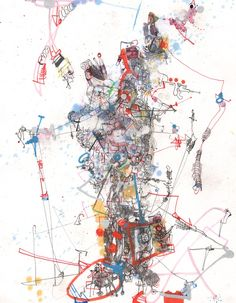 Michael Alan, Past, Present, Future, 2012, everything on paper.