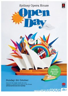 I can finally reveal the paper sculpture that was commissioned by The Sydney Opera House for their Open Day 2010 poster. Creative Jobs, Creative Art, Pop Up, Jacky Winter, Sculpture Techniques, Cardboard Sculpture, Business Illustration, Paper Illustration, Creative Portfolio