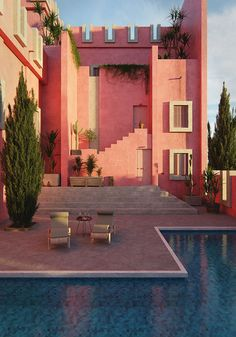Red wall Tribute on Behance Color Schemes Design, 3d Architecture, Blender 3d, Red Walls, Mansions, House Styles, Behance, Home Decor, Sevilla
