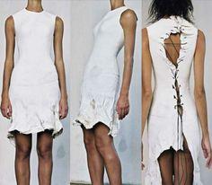 Carol Christian Poell 'Cast Leather Dress' F/W 1999