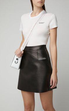 Floral-Print Cotton-Jersey Sweatshirt by Off-White c/o Virgil Abloh White Mini Skirts, Leather Mini Skirts, Leather Skirt, Off White Sweatshirt, White C, Designing Women, Printed Cotton, Women Wear, Sweatshirts