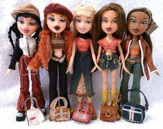 Bratz Xpress It Dolls | I think I had all of these, I may have had a different one of Megan though (2nd from the left).