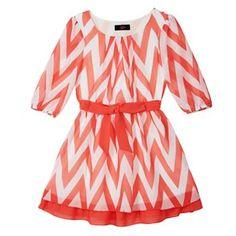 IZ Amy Byer Chevron Shift Dress - Girls 7-16