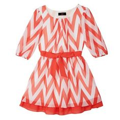 IZ Amy Byer Chevron Shift Dress - Girls 7-16