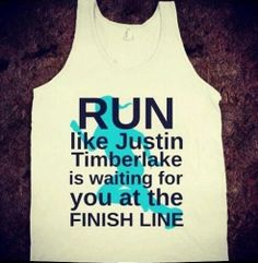 Justin Timberlake Motivation- love this. I could actually run with this delusion.
