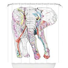 Casey Rogers Elephant 1 Shower Curtain
