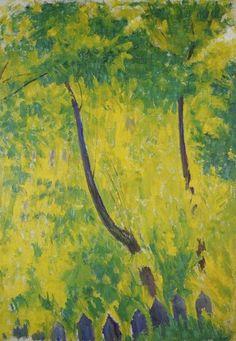 amare-habeo:  Mikhail Larionov (Russian, 1881-1964) Trees at Sun (Arbres au soleil), 1905 Oil on canvas
