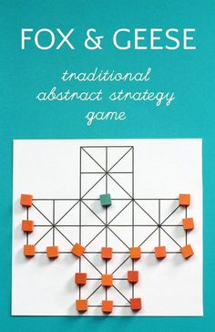 Fox and Geese is a Fun abstract strategy game from Northern Europe. Check out all the 28 Days of STEAM Projects for Kids for fun science, technology, engineering, art, and math activities! Dice Games, Activity Games, Math Games, Fun Games, Games For Kids, Activities For Kids, Therapy Activities, Articulation Activities, Group Activities