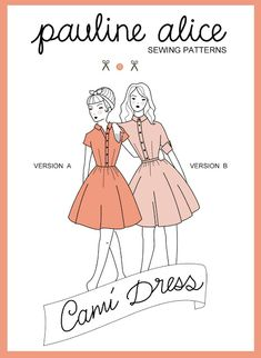 cami dress, sewing pattern, shirt dress, retro, buttons, cuff. think it would be SO sweet maybe in a corduroy and an A line skirt