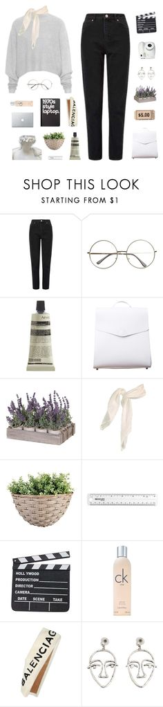 """""""watching the sunset in your eyes"""" by thenewgirl3 ❤ liked on Polyvore featuring Miss Selfridge, Aesop, VereVerto, Retrò, Calvin Klein, Balenciaga, MANGO, Fujifilm and bottvs"""