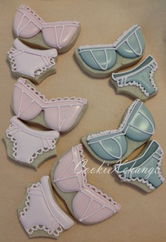 Lingerie Decorated Cookie Bra and Panties by CookieXchange on Etsy