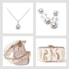 The Ashcroft Pendant & Crestwood Earrings with the Marilyn Clutch from Adorn.com ...  Save 10% using promo code: pinterest2013 ... Bridal accessories, fine diamond jewelry, yellow diamond pendant, yellow diamond earrings, swarovski crystal clutch