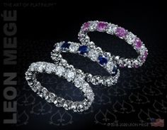 The Stolen Band with diamonds and sapphires by Leon Mege.