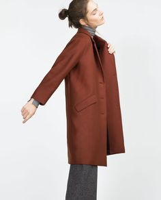 Image 4 of COAT WITH FLAP POCKETS from Zara