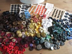Colourful vintage buttons. Large tin full. noelhumphrey on eBay.