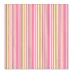 For The Home - Pastel Stripes Fabric Shower Curtain