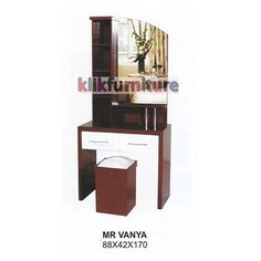 Harga Meja Rias Kayu Vanya CMS Condition:  New product  ukuran 88 x 42 x 170 cm bahan kayu bukan particle board