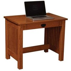 Amish JD's Mission Writing Desk (770 AUD) ❤ liked on Polyvore featuring home, furniture, desks, brown desk, brown's furniture, flower stem, writing desk and hardware furniture