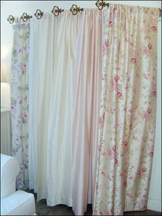 Shabby Chic Curtains Thinking Of Using Some These For The Backyard Door