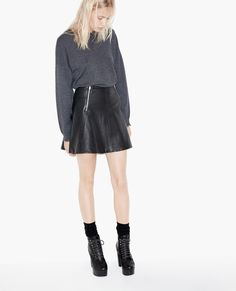 Leather skating skirt - Skirts & Shorts - The Kooples