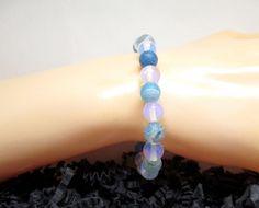 Les beaux jours arrivent... Bracelet élastique en perle de pierre semi-précieuse. : Bracelet par les-mille-et-une-perle-de-sophie-r