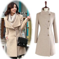 Top Quality 2015 Women Wool Coat Long Single Breasted Winter Coat Overcoat Women Coats Drop Shipping 41